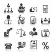 Business icons, management and human resources set — Stock Vector