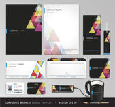 Corporate identity business set. Vector illustration. — Stock Vector