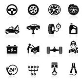Car service maintenance icon set. Vector illustration. — Stock Vector
