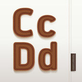 Alphabet Leather Skin Texture. vector illustration. — Cтоковый вектор