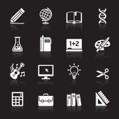 Zestaw ikon edukacji. ilustracja wektorowa. — Wektor stockowy