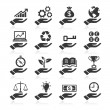 Hand concept icons — Stock Vector