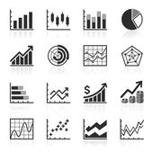 Business Infographic icons - Vector Graphics — Stock Vector