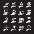 Hand concept icons. — Stock Vector