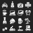 Stock Vector: Hotel icons set