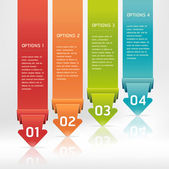 Colorful Origami Style Number Options Banner & Card. Vector illu — Vecteur