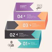 Bannière d'options numéro par flèche moderne origami style. vecteur illustr — Vecteur