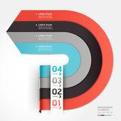 Modern arrow circle step up options banner. Vector illustration. — Stock Vector