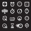Clocks icons. Vector illustration — Stockvektor