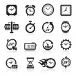 Clocks icons. Vector illustration — Vector de stock