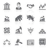 Business en finance beurs pictogrammen. vectorillustratie — Stockvector