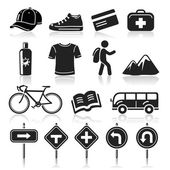 Travel icons set4. vector eps 10 — Stock Vector