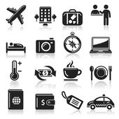 Travel icons set1. vector eps 10 — Stock Vector