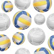Volley Balls Seamless pattern. Vector illustration — Stock Vector