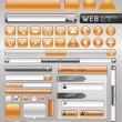 Blank buttons for website and app. Vector illustration — Vettoriali Stock