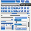 Blank buttons for website and app. Vector illustration — Imagens vectoriais em stock
