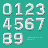 Modern alphabet number colour style. — Stock Vector