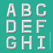 Alphabet modern colour style. — Stock Vector