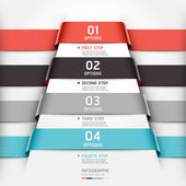 Abstract infographics template ribbon style. — Stock Vector