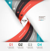 Abstract spiral infographics options banner. — Stock Vector