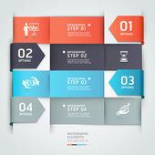 Abstrakt pilen affärer infographics mall. — Stockvektor