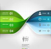 Modern business spiral infographics options banner. — Vector de stock