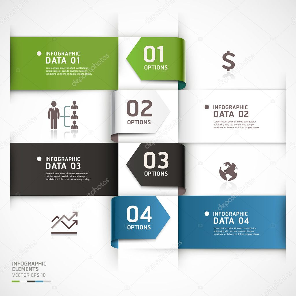 Abstract business infographics template. — Stock Vector ...