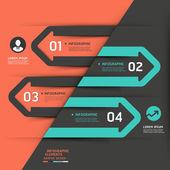 Modern business arrow infographics template — Stock Vector
