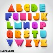 3D alphabet number colorful — Vettoriale Stock
