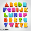 3D alphabet number colorful — Stockvector
