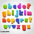 3D alphabet number colorful — Stok Vektör #42477245