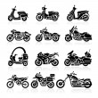Motorcycle Icons set — Stock Vector #42477475