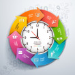 Work time management — Vector de stock