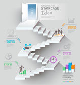 Business staircase thinking idea — Stock Vector