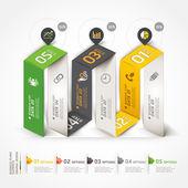 Diagram infographics options — Stock Vector