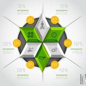Modern business diagram — Stok Vektör