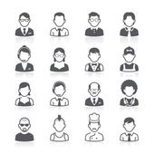 Business people avatar icons — Stock Vector