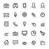 Business outline icons — Stok Vektör