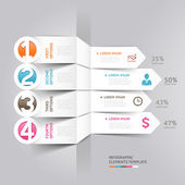 современные стрелка инфографика — Cтоковый вектор