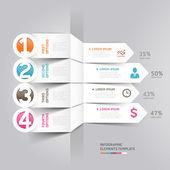 Modern arrow infographics — Stok Vektör