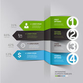 Abstract arrow infographics — Stock Vector