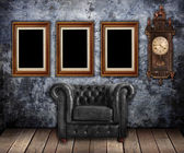 Classic leather armchair — Stock Photo