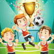 Children Soccer — Stock Vector