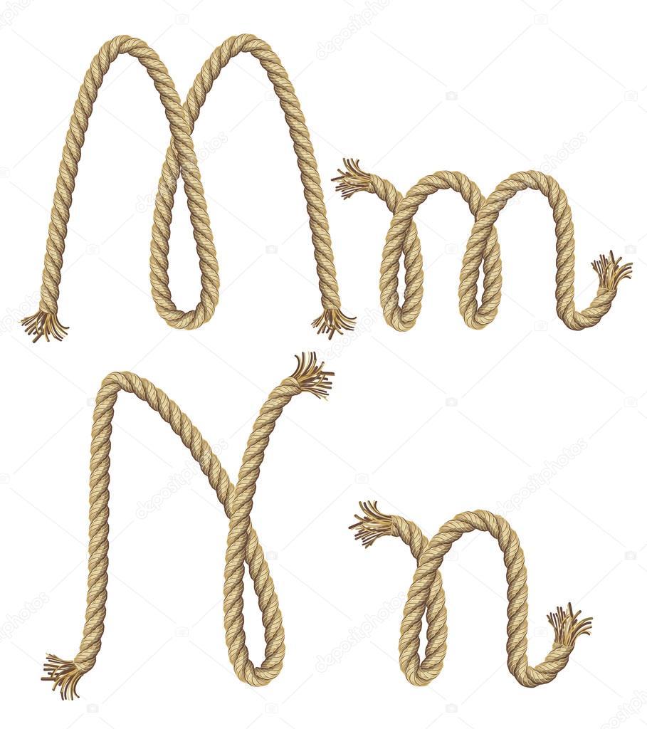 绳子字母表.矢量图— vector
