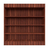 3d Wooden book Shelf — Stock Photo
