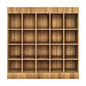 Estantería de madera 3d — Foto de Stock