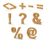 Wood font — Stock Photo