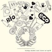 Green world concept. — Stock Vector