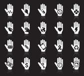 ícones do conceito de mão — Vetorial Stock