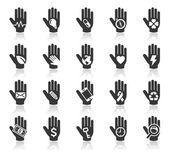 рука концепции значки — Cтоковый вектор